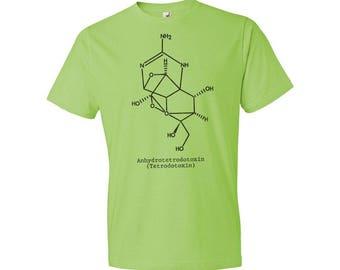 Fugu Fish Poison Tetrodotoxin Molecule T-Shirt Science Gift, Fugu Fish, Fugu, Puffer Fish, Neurotoxin, Neurochemistry, Chemistry, Biology