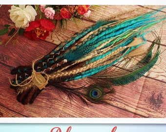 """Double Ended Synthetic Dreads Extension Crochet Dreadlocks """"Blue Obsession Set""""  Afromod"""
