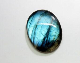 46Cts Natural Labradorite Loose Gemstones Oval Cabochon Top AAA Blue Fire Labradorite Gemstones Labradorite Jewelry Making 34X26X6mm