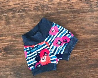 Floral Baby Shorts, Striped Baby Shorts, Baby Shorts, Toddler Shorts, Girl Clothing, Girl Pants, Baby Girl Shorts