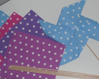 Kit for 5 windmills decoration fabric of your choice