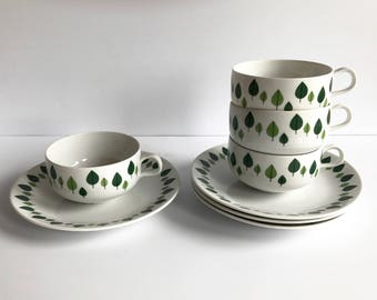 Reserved Rorstrand Park xl Tea set, MINT, RARE from Rörstrand Sweden / Refined,Precious Scandinavian Mid Century Collectible