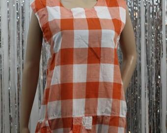 Vintage 100% Cotton Kaktus Orange Dress Shirt (S)
