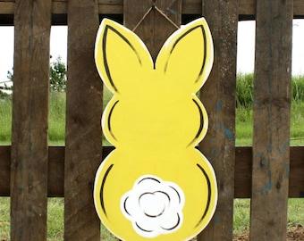 Easter Door Hanger- Bunny Butt, door hanger, door decor, easter decoration, easter door hanger