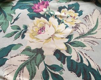 Vintage Barkcloth, Hawaiian Fabric, Barkcloth Pillows, Retro Barkcloth, Vintage Barkcloth Fabric, Vintage Fabric, Retro Fabric, Cottage