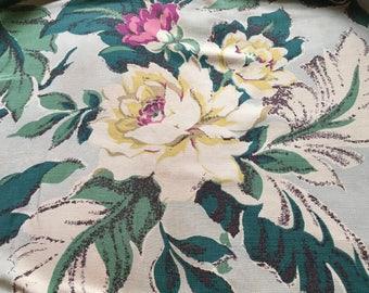 Barkcloth, Hawaiian Fabric, Barkcloth Pillows, Retro Barkcloth Fabric, Vintage Barkcloth Fabric, Vintage Fabric, Retro Fabric, Cottage Chic