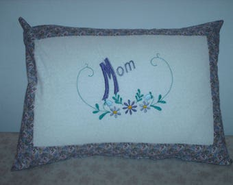 "Embroidered Mother""s Day Pillow"