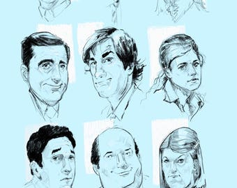 the office sketched
