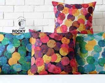 Pop art colorful cushion