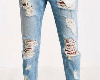 Adult distressed jeans -send in your own