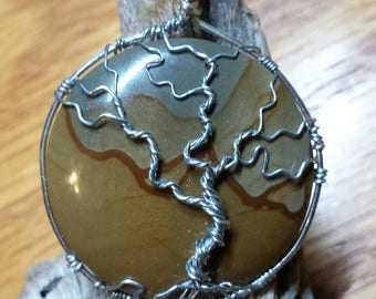 Picture Jasper with Tree of Life Pendant