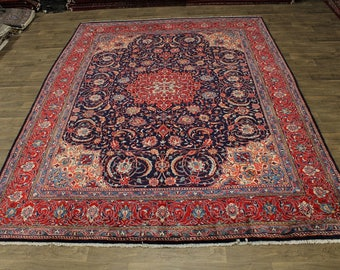 Fascinating S Antique Handmade Mahal Arak Persian Area Rug Oriental Carpet 10X13