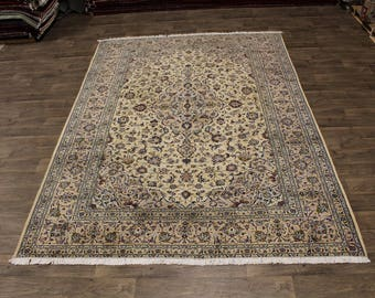 Traditional S Antique Handmade Light Kashan Persia Area Rug Oriental Carpet 8X11