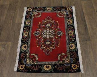 Top Quality Entrance Size Handmade Kashan Persian Rug Oriental Area Carpet 3X2