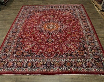 Spectacular Classic Design Plush Mashad Persian Rug Oriental Area Carpet 10X13