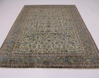 Amazing Allover S Antique Sage Kashan Persian Rug Oriental Area Carpet 10X14