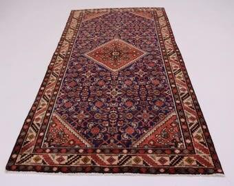 Charming S Antique Handmade Hossainabad Persian Rug Oriental Area Carpet 5X10