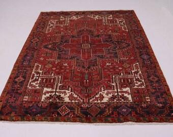 Breathtaking Unique Handmade Vintage Heriz Persian Rug Oriental Area Carpet 8X11