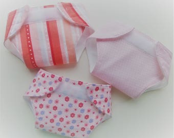 Doll Diapers - Bitty Baby Doll Diapers - Bitty Baby Diapers - Baby Doll Diapers - Princess Party Ideas - Pretend Diapers Bitty Baby Clothes