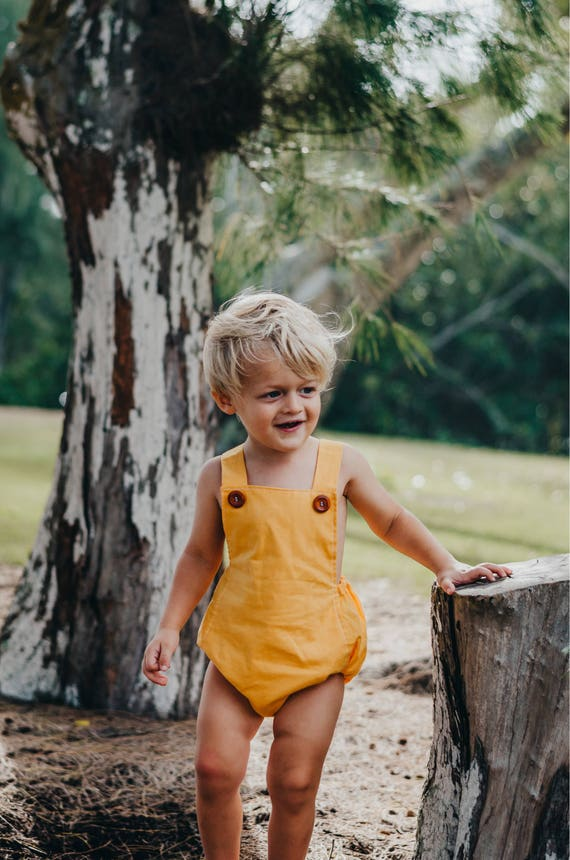 Size 6-12M Bubble Romper, Vintage Inspired Romper, Boho Chic, Boho Birthday Outfit, Retro Baby Romper, Baby Playsuit