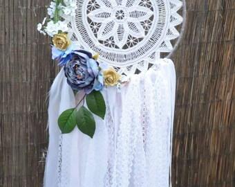 Crochet Dreamcatcher - Flower Dreamcatcher - Boho