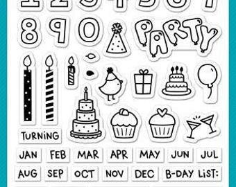 Lawn Fawn Plan on it Birthday stamp set - planner stamps