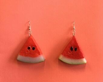 Watermelon slice earings