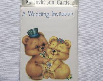 Retro | Vintage | Cute Bears | Wedding | Invitations