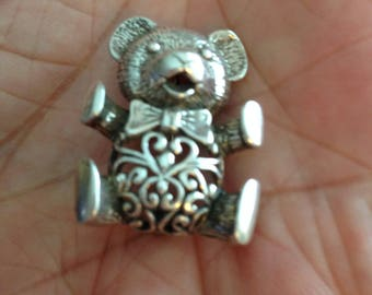 Sterling Silver Bear Pin