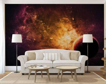 Wall Mural Of The Galaxy, Wallpaper Space, Galaxy Wall Decal, Wall Mural Of Space