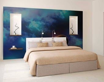 Wall Mural Planets, Wall Mural Galaxy, Wall Mural Space, Wallpaper Planets, Galaxy Wall Decal