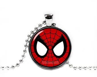 Spiderman Mask Necklace Pendant Spiderman  Necklace Fandom Jewelry Geeky Jewelry