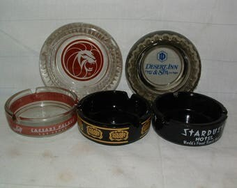 Vintage Las Vegas Ashtray Lot of 5 Man Cave Stuff NICE************ 1960's********