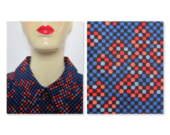 Shirt Miss Dior graphic Op Art 1970's vintage multicolor Pure wool Made in France 70 s