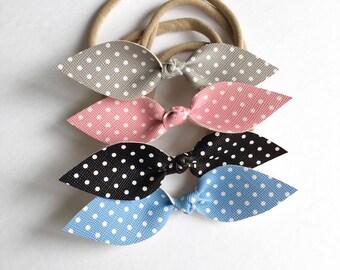 Headband for baby Nylon with polka dot bow