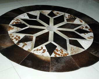 Cow Hide Patch Rug 200 MM