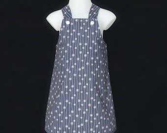 Meadow Grey Daisy Chain Pinafore Dress