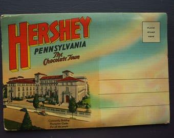 Hershey Pennsylvania 'The Chocolate Town' Foldout Folder Souvenir Postcards