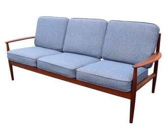 Vintage Danish Modern Teak Sofa by Grete Jalk Model 118