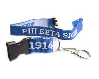 Phi Beta Sigma Embroidered Lanyard