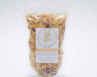 Buttercup Hay Topper -  Dry Herbs and Flower Treats for Rabbits, Rabbit food, Bunny treats Australia, guinea pig treats, Rabbit treats