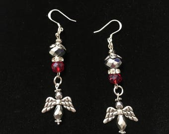 Holiday Angels in Flight Earrings