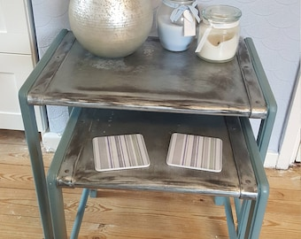 Zinc Nest of 2 Tables