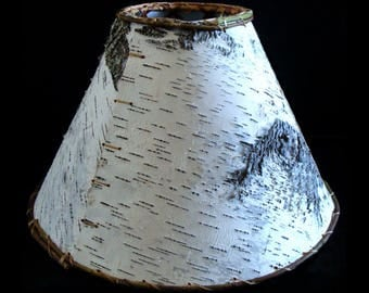 "Birch Bark Lampshades Handcrafted/Hand-sewn Crafted From Real Birch Bark 7 Sizes 21"", 18"", 16"" 14"", 12"", 9"" And Two Sizes Of Chandelier Type"