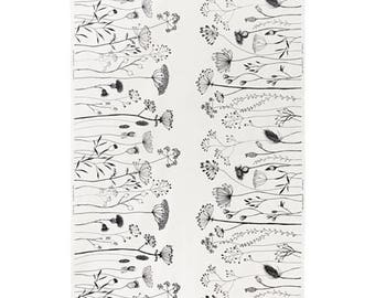 Ikea PILORT Fabric white/black