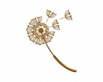 Floating dandelion embroidery design