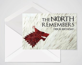Game of Thrones - The North Remembers - Birthday Card