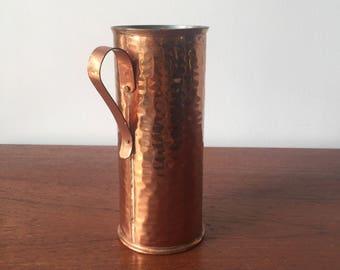 Hammered copper vase made in Sweden