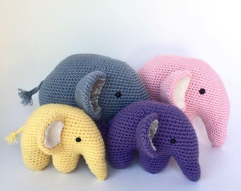 Crochet amigurumi pattern: Elephant