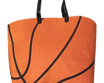 XL Basketball Canvas Tote Sports Bag